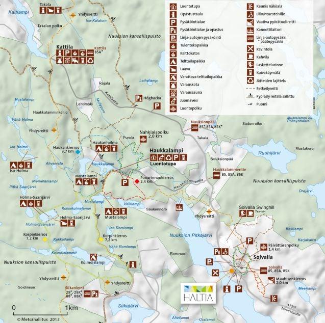 Nuuksion Kansallispuisto Reitit