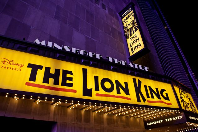 The Lion King on yksi suosituimmista musikaaleista New Yorkissa.