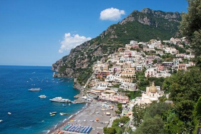 Amalfi Italian Kartalla Amalfin Rannikko Ja Rooma