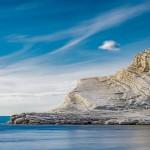 Kallio kuin valkoista marenkia - Häikäisevän valkoinen kalliojyrkänne hurmaa Sisiliassa